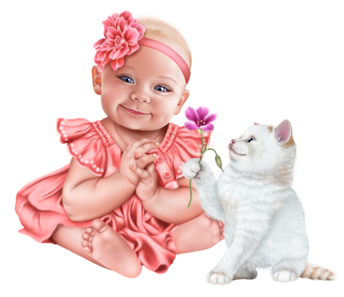baby-with-a-kitten-png18.png
