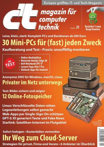 Cover: ct Magazin für Computertechnik No 21 vom 24  September 2021