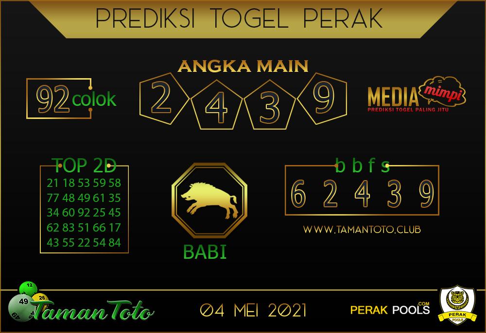 Prediksi Togel PERAK TAMAN TOTO 04 MEI 2021