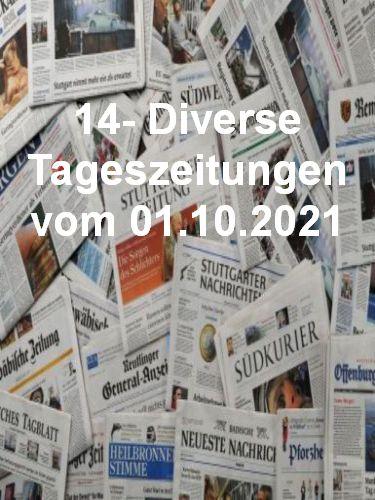 Cover: 14- Diverse Tageszeitungen vom 01  Oktober 2021