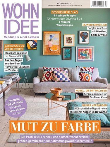 Cover: Wohnidee Magazin für Wohnen und Leben No 10 2021
