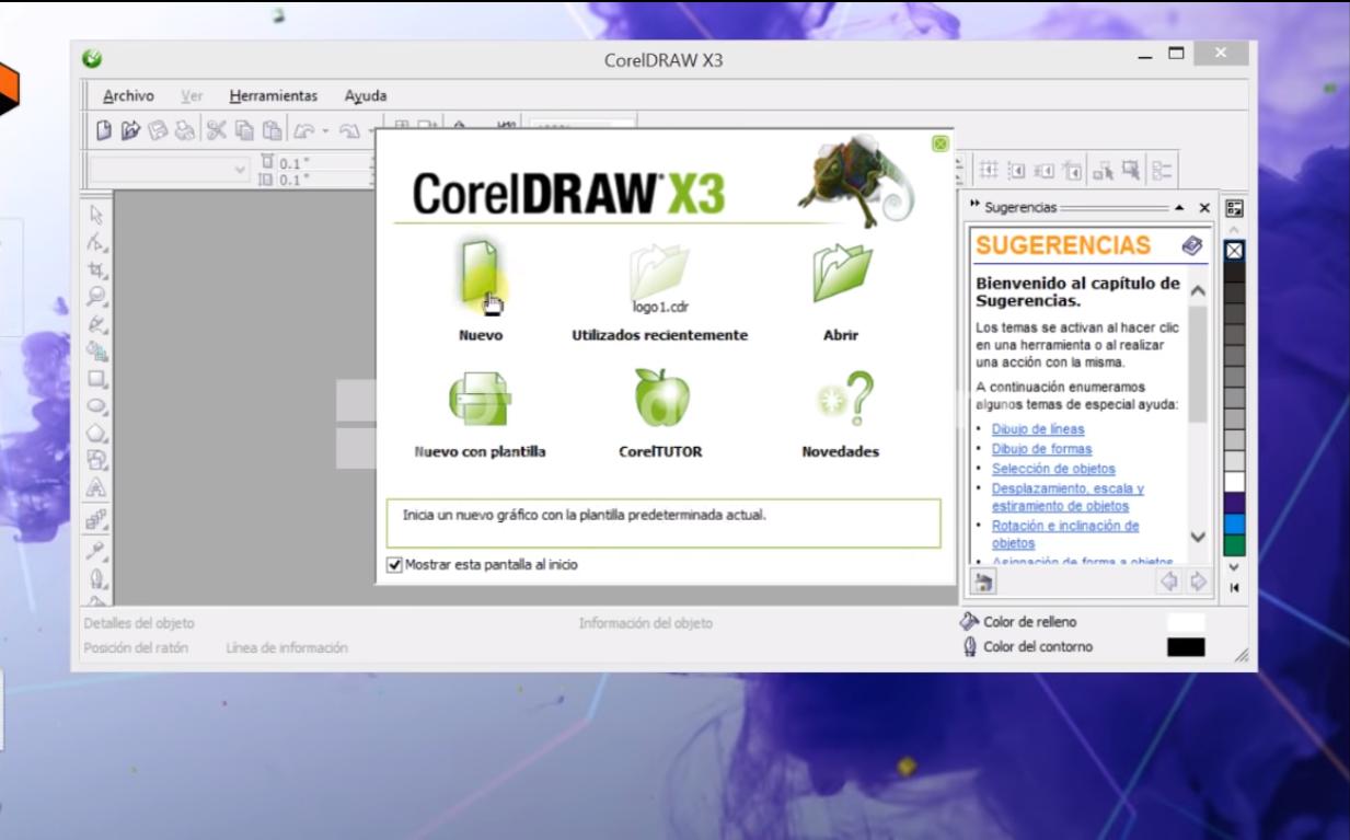 Así se ve su versión x3. Te enseñamos a descargar Corel Draw x3 Full
