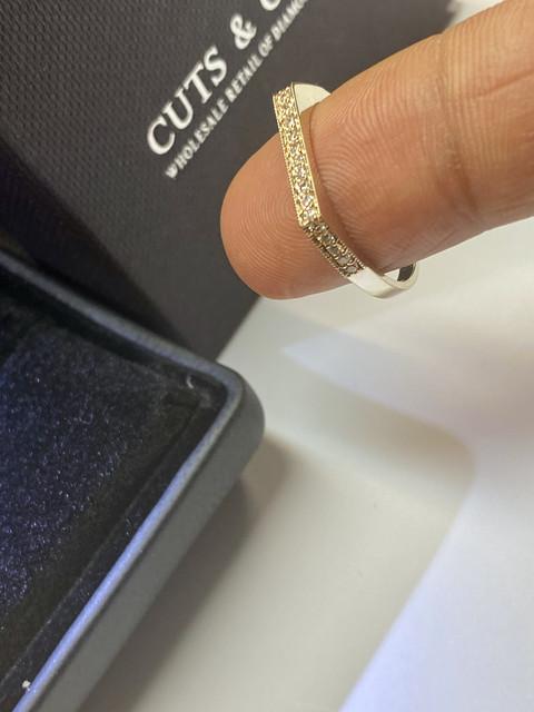 Diamant Memory Ring 20 Brillanten 0,13 Carat 585er 14 K Gold Weißgold Rosegold