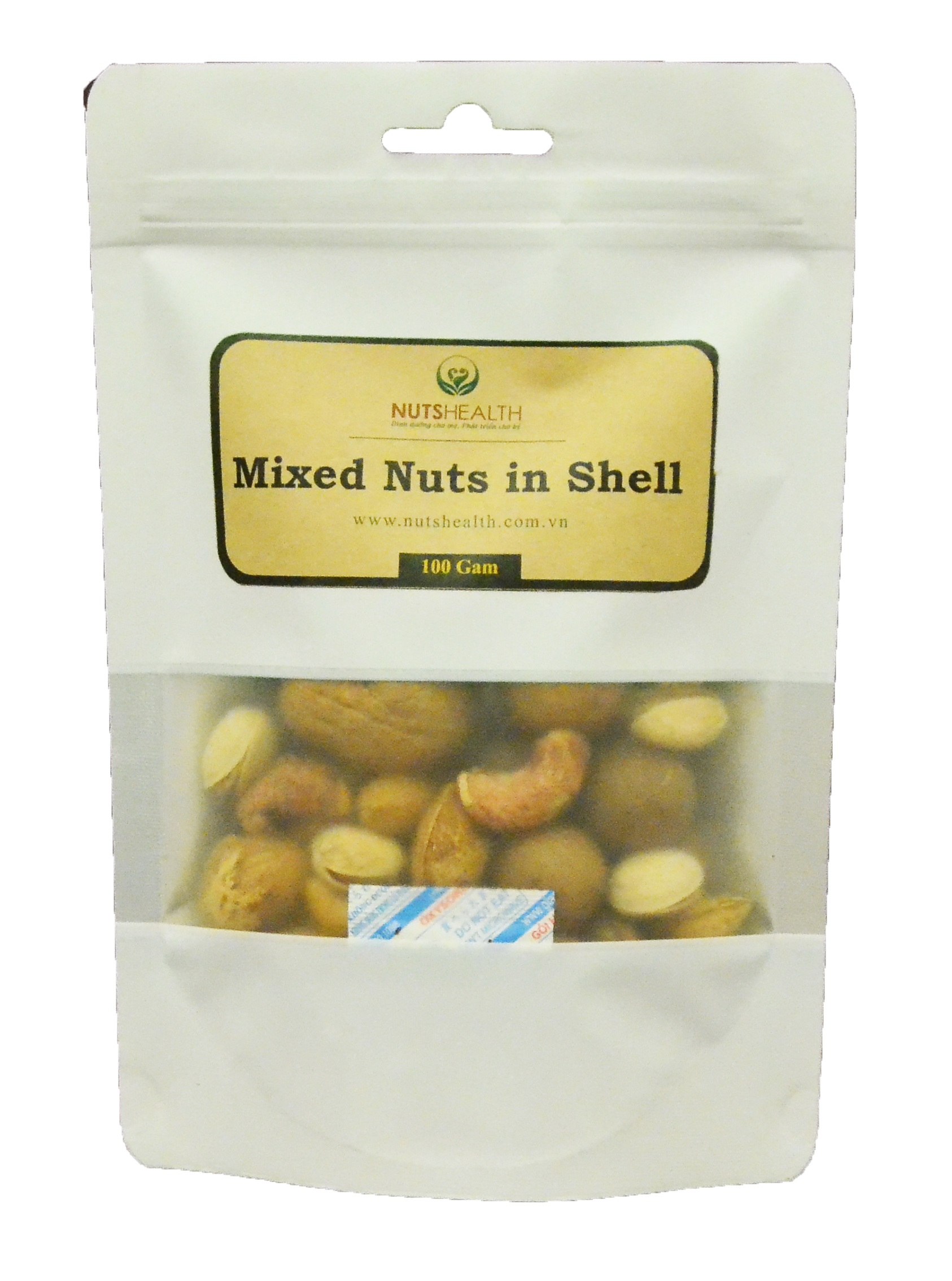 Hạt Tổng Hợp còn vỏ ( Mixed Nuts ) -bịch- 100g – Nutshealth