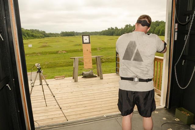 practice shooting, man in shooting range