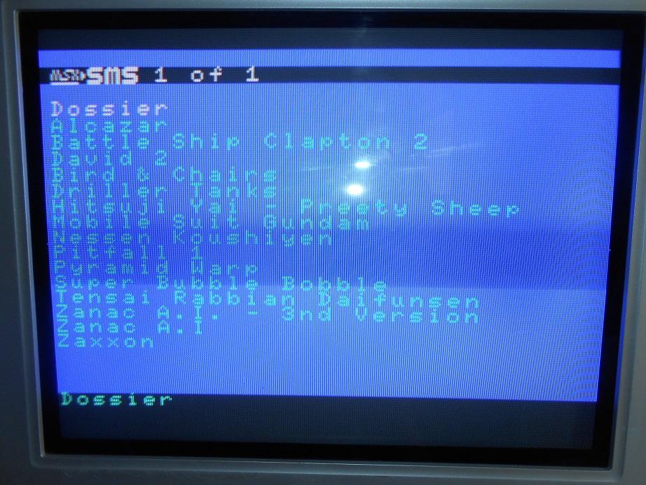 """MSX2SMS Compilation 500in1 """"Commandes ouvertes!!"""" DSCN1711"""