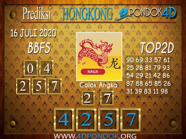 Prediksi Togel HONGKONG PONDOK4D 16 JULI 2020