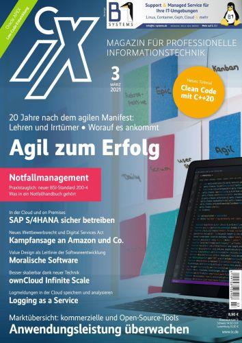 Cover: iX Magazin für professiopnelle Informationstechnik März 2021