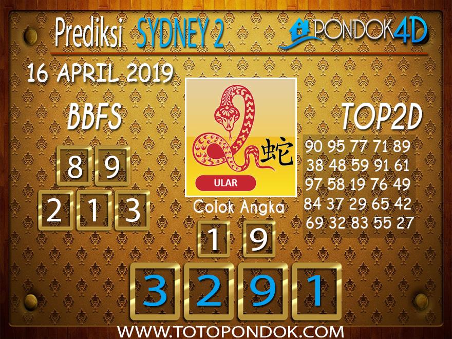 Prediksi Togel SYDNEY 2 PONDOK4D 16 APRIL 2019