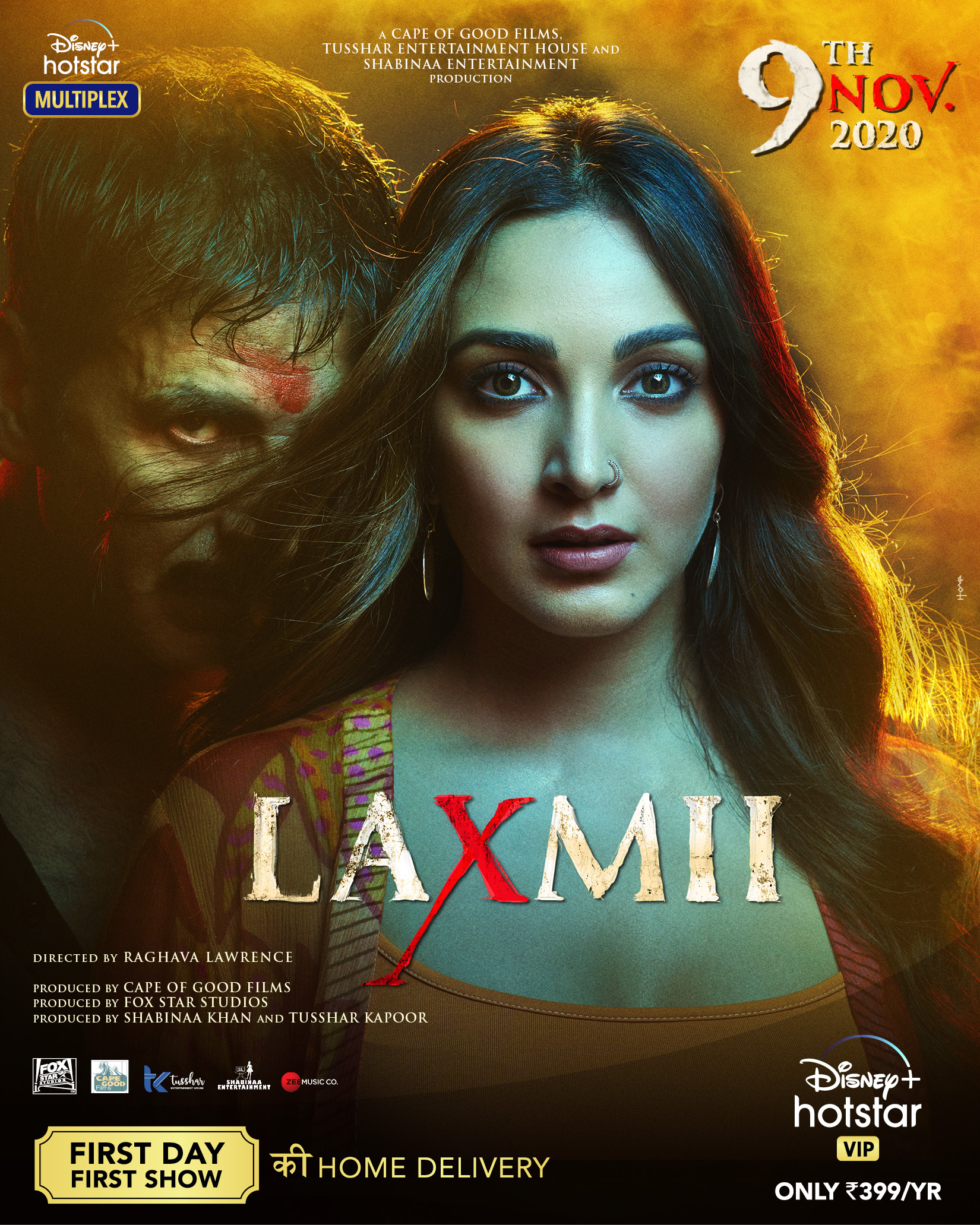 Laxmii (2020) Hindi 720p WEB-DL x264 AAC 1.4GB ESub