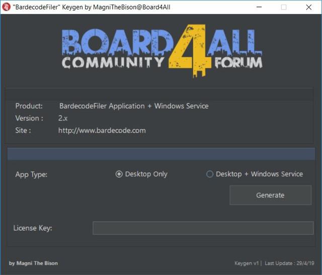 Keygen - BardecodeFiler Application & Windows Service v2 5