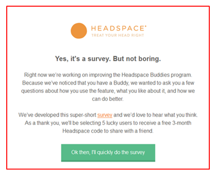 headspace email example