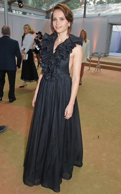 LONDON ENGLAND JUNE 06 Felicity Jones attends the Glamour Women of The Year Awards 2017 in Berkeley