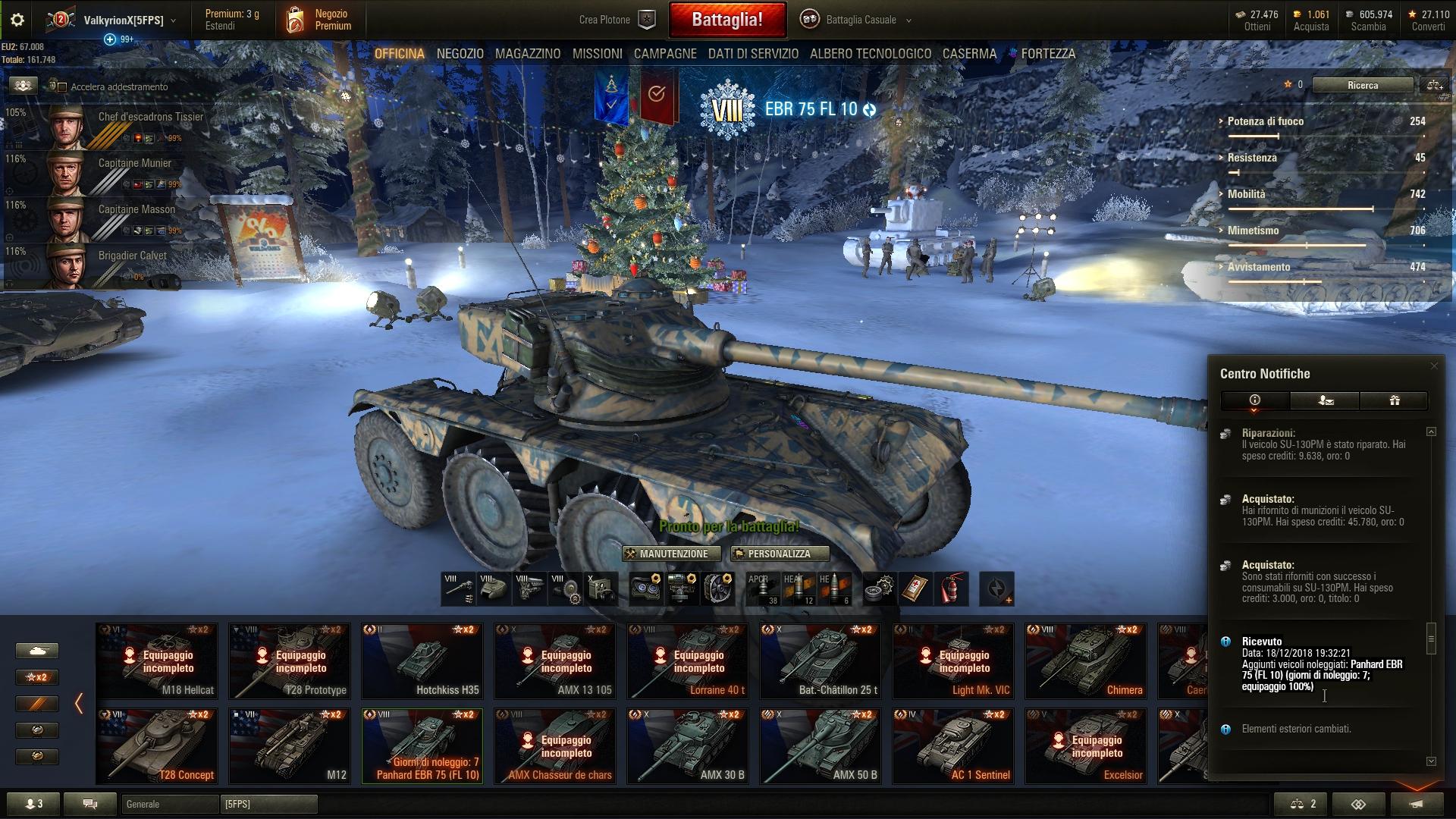 Panhard EBR 75 (FL10) -tier 8 wheeled tank- [7 days RENTAL CODE