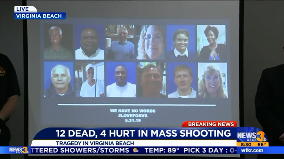 Active shooting at Virginia Beach Municipal Center- stay