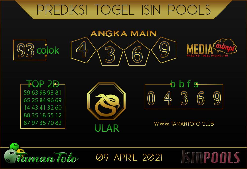Prediksi Togel ISIN TAMAN TOTO 09 APRIL 2021