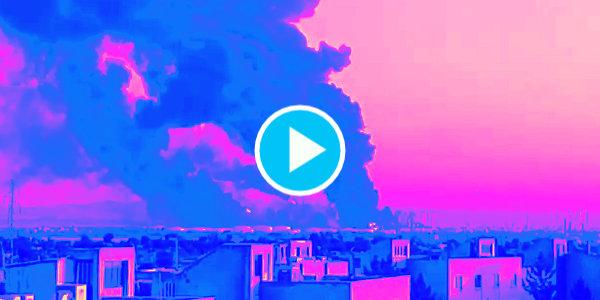 Oil refinery in Tehran, Iran on fire…