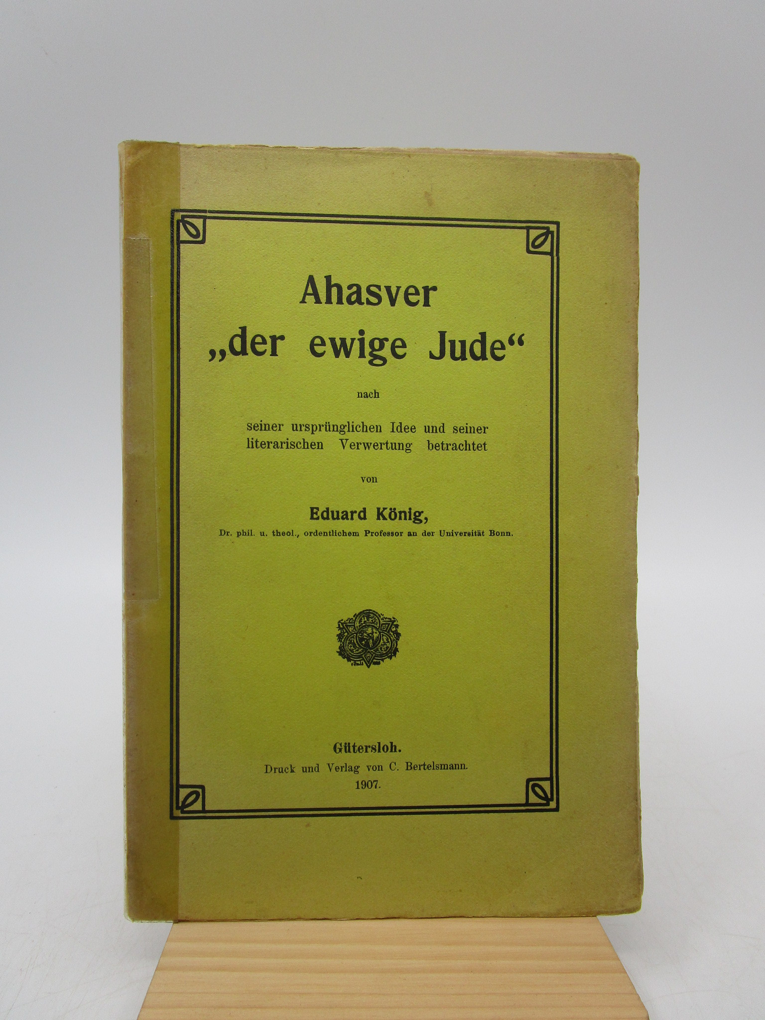 """Image for Ahasver """"der ewige Jude,"""" nach seiner ursprunglichen Idee und seiner literarischen Verwertung betrachtet"""
