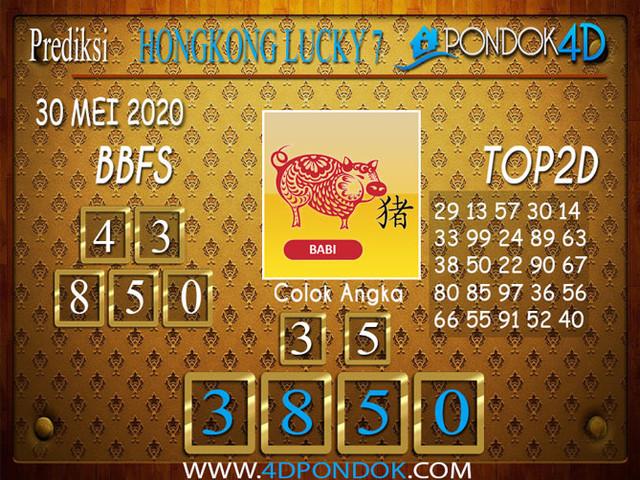 Prediksi Togel HONGKONG LUCKY 7 PONDOK4D 30 MEI 2020