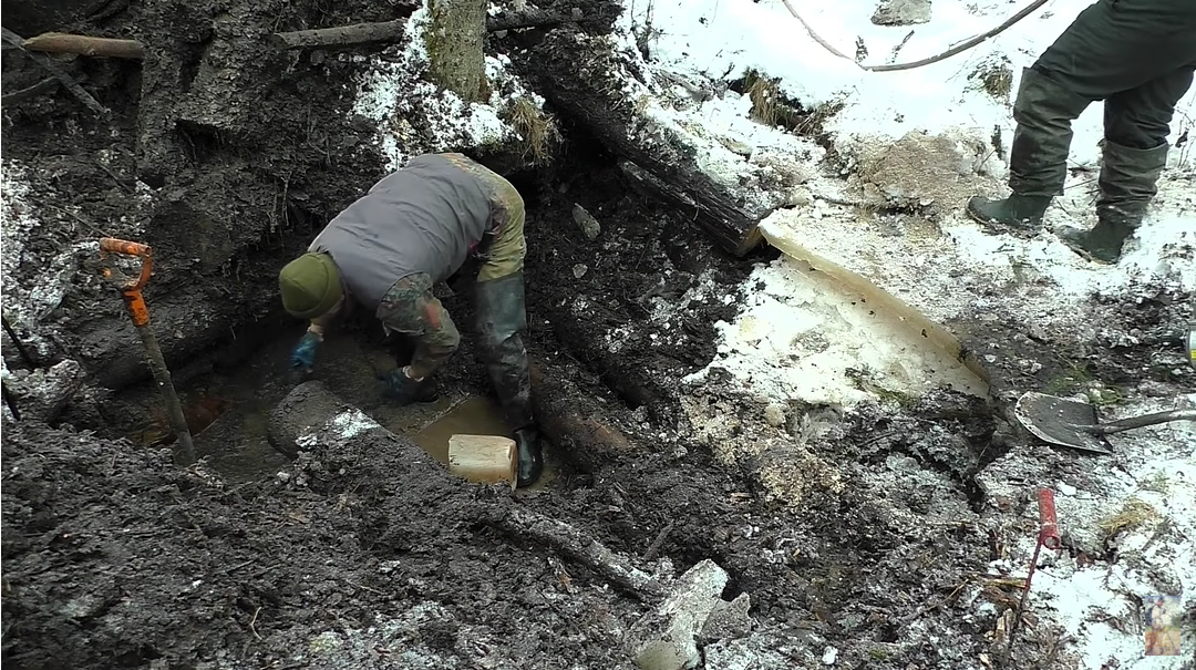 excavation of German dugout