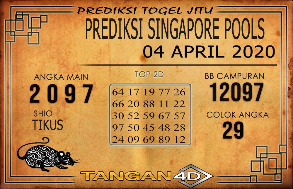PREDIKSI TOGEL SINGAPORE TANGAN4D 04 APRIL 2020
