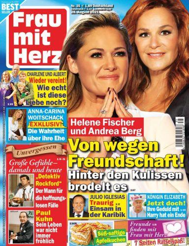 Cover: Frau mit Herz Frauenmagazin No 35 vom 28  August 2021