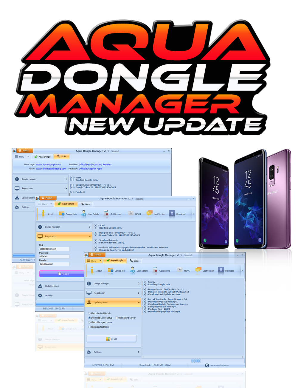 AQUA Dongle Manager V1.1 Second Server & Other Improvement Update Released 30/06/2020