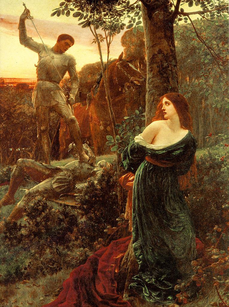 Cavaleiros e dama