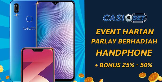 Event Harian Berhadiah HP + Bonus 25 ~ 50%