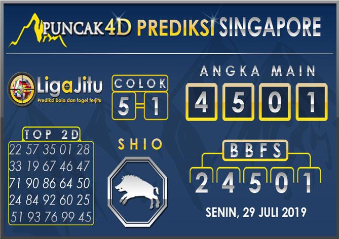 PREDIKSI TOGEL SINGAPORE PUNCAK4D 29 JULI 2019