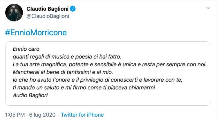Ennio Morricone ricordo