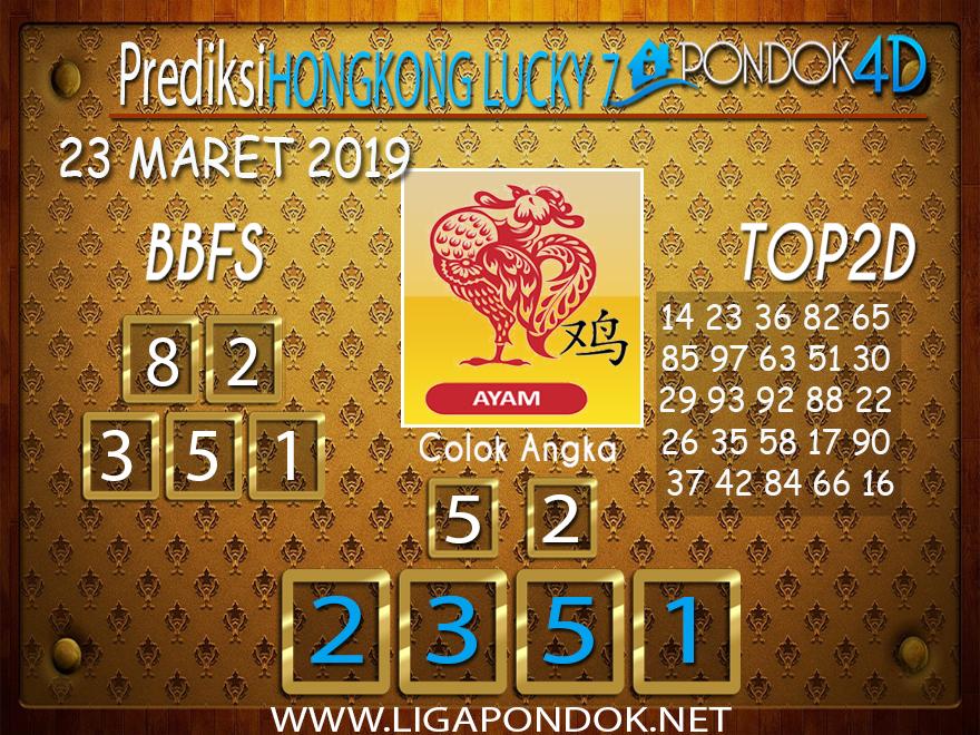 Prediksi Togel  HONGKONG LUCKY 7 PONDOK4D 23 MARET 2019