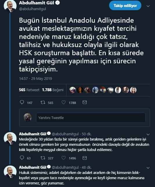 Abdulhamit Gül'ün tweetleri