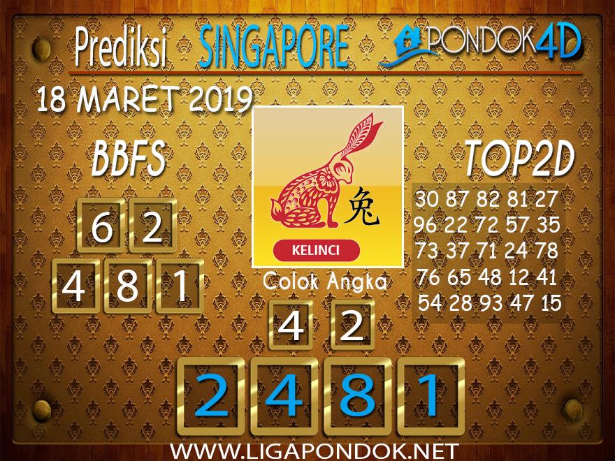 Prediksi Togel SINGAPORE  PONDOK4D 18 MARET 2019
