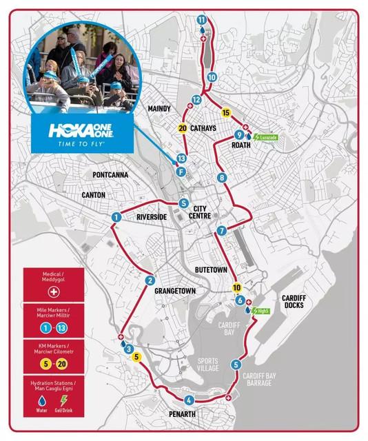 recorrido-medio-maraton-cardiff-travelmarathon-es