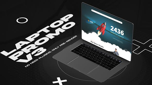 Laptop website promo v3 33708077 - Project for After Effects (Videohive)