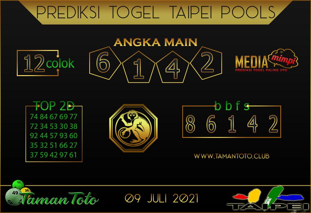Prediksi Togel TAIPEI TAMAN TOTO 09 JULI 2021