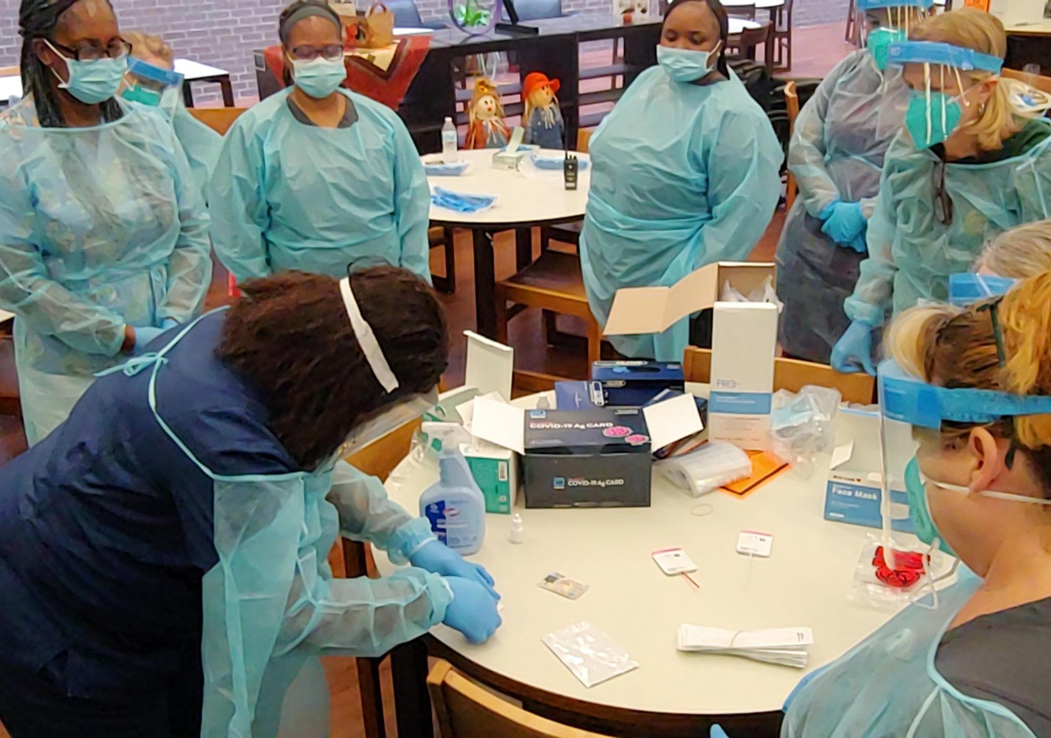 10202020-LISD-nurses-training-COVID-testing-2