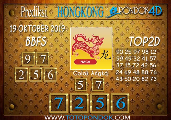Prediksi Togel HONGKONG PONDOK4D 19 OKTOBER 2019