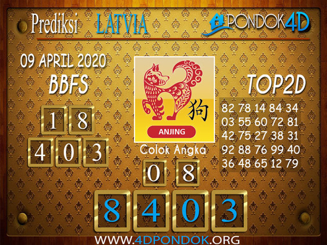 Prediksi Togel LATVIA POOLS PONDOK4D 09 APRIL 2020