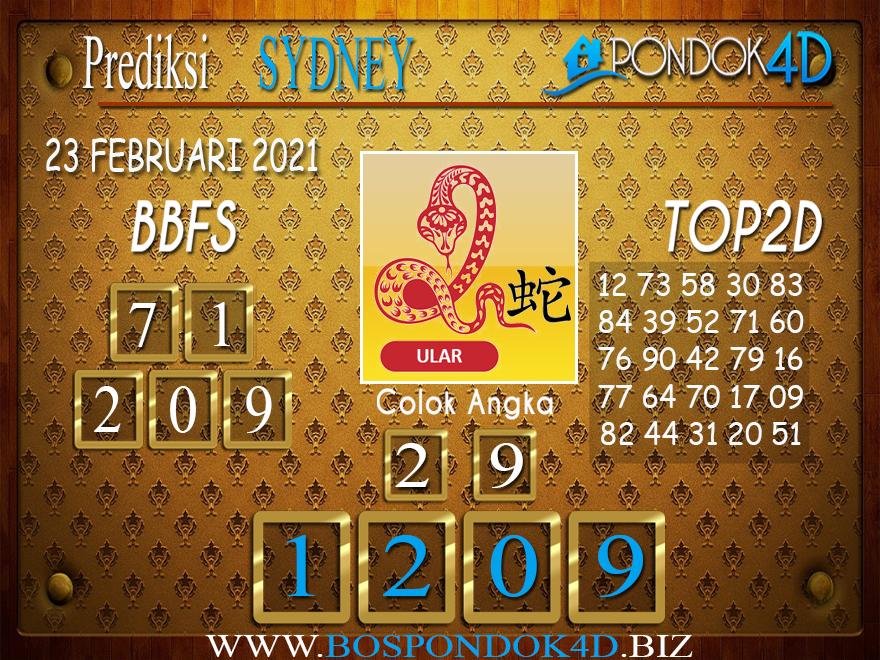 Prediksi Togel SYDNEY PONDOK4D 23 FEBRUARI 2021