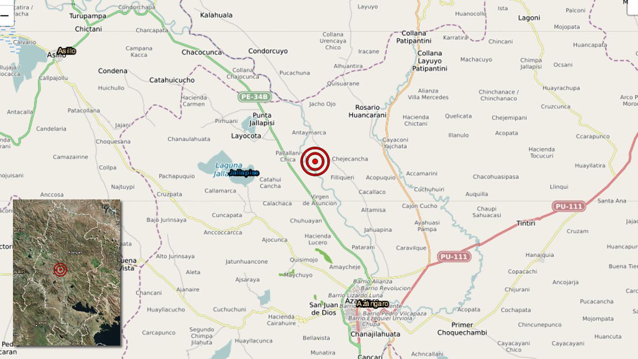 Puno: fuerte sismo de magnitud 7.0 se registró en Azángaro