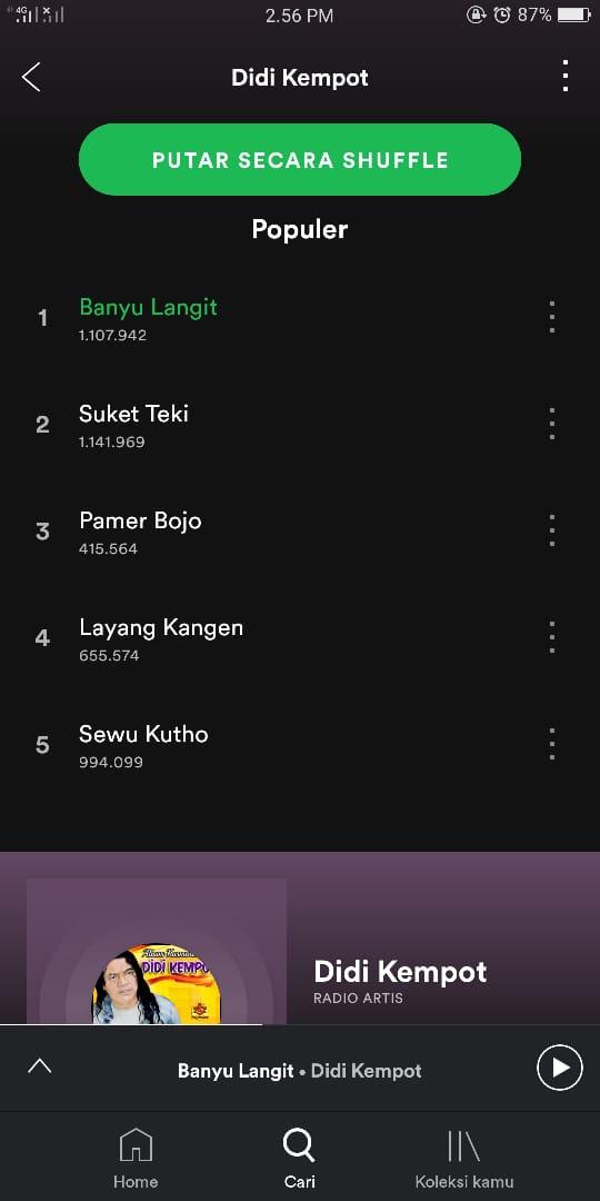 Lagu Banyu Langit, Didi Kempot.