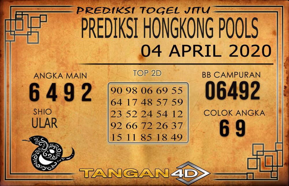 PREDIKSI TOGEL HONGKONG TANGAN4D 04 APRIL 2020