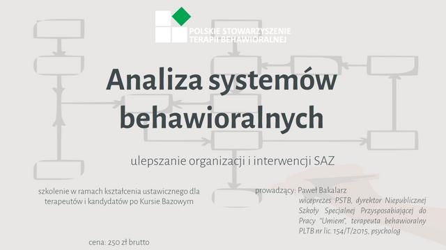 Analiza Systemów Wydajności - ulepszanie organizacji i interwencji SAZ