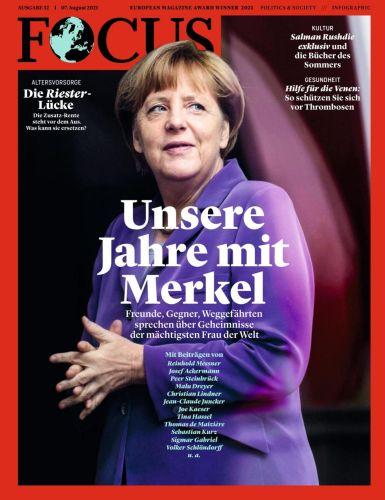 Cover: Focus Nachrichtenmagazin No 32 vom 07  August 2021