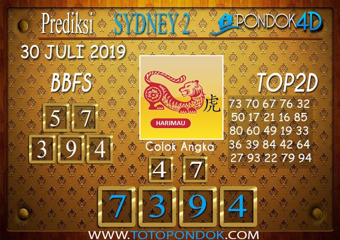 Prediksi Togel SYDNEY 2 PONDOK4D 30 JULI 2019