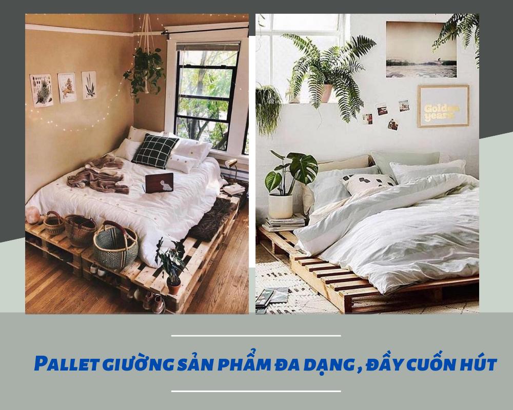 Ưu điểm của giường ngủ gỗ Pallet