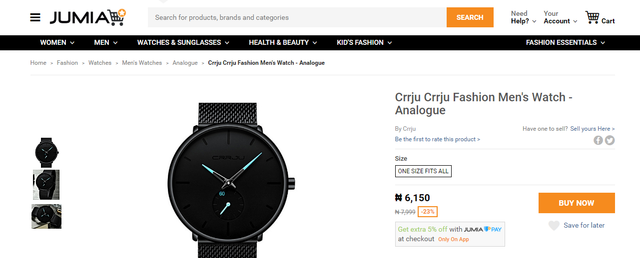 Jumia screenshot