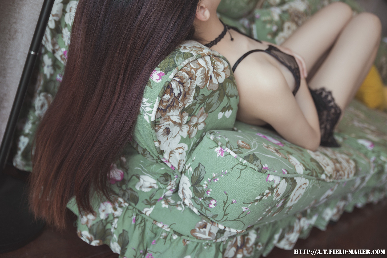 Tsubaki Album vol.006 Sheer lace pajamas 怠いお昼のパジャマ少女 sexy-nightdress-23
